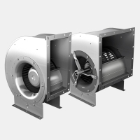 Centrifugal fans with forward curved impellers (single and double inlet)